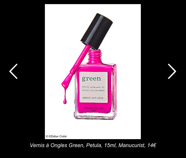Le vernis Green Manucurist dans les 10 must have beauté testés et approuvés par closermag