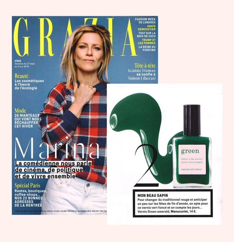 Le vernis Green Emerald Manucurist dans Grazia