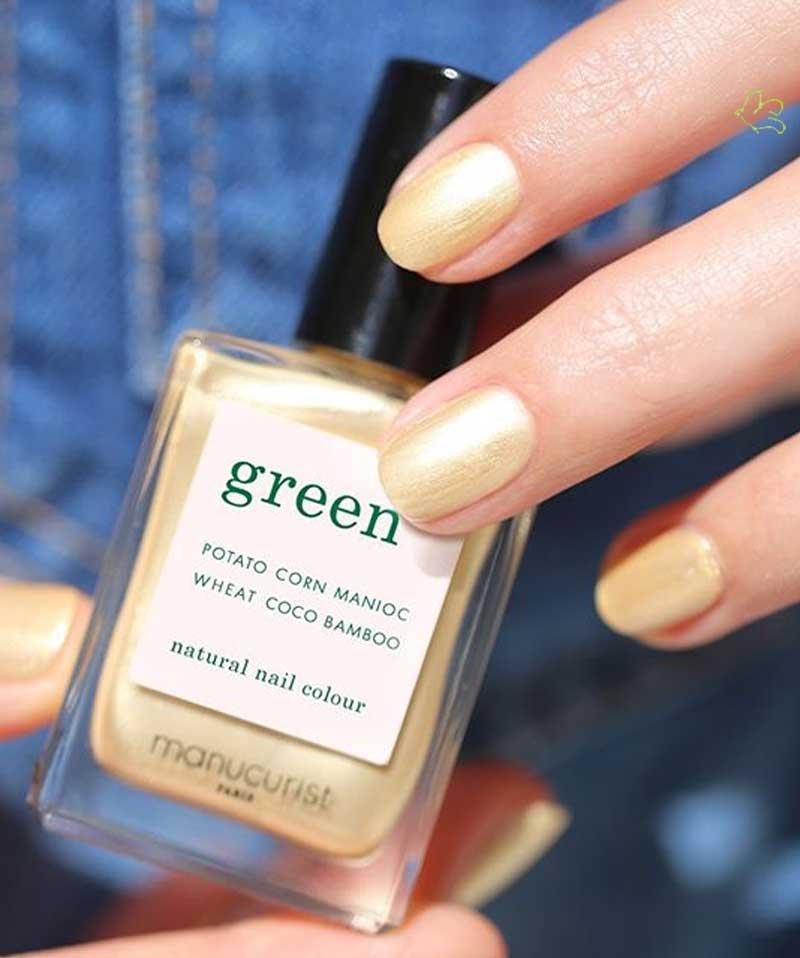 MANUCURIST PARIS Vernis GREEN Gold Sand or jaune irisé