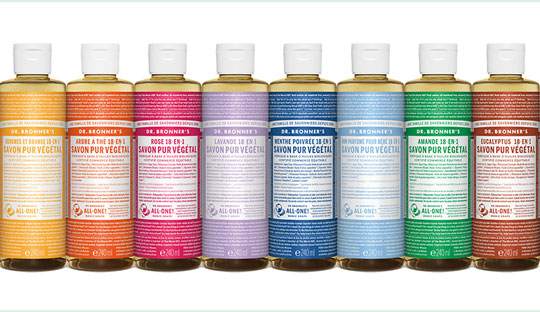 Dr. Bronner's Savon liquide bio Pur Végétal 18-en-1