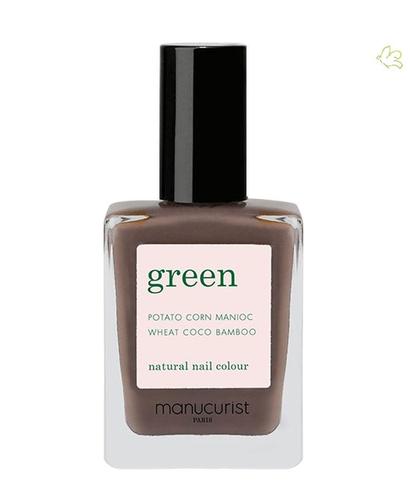 MANUCURIST PARIS Vernis GREEN Dark Wood marron glacé naturel l'Officina