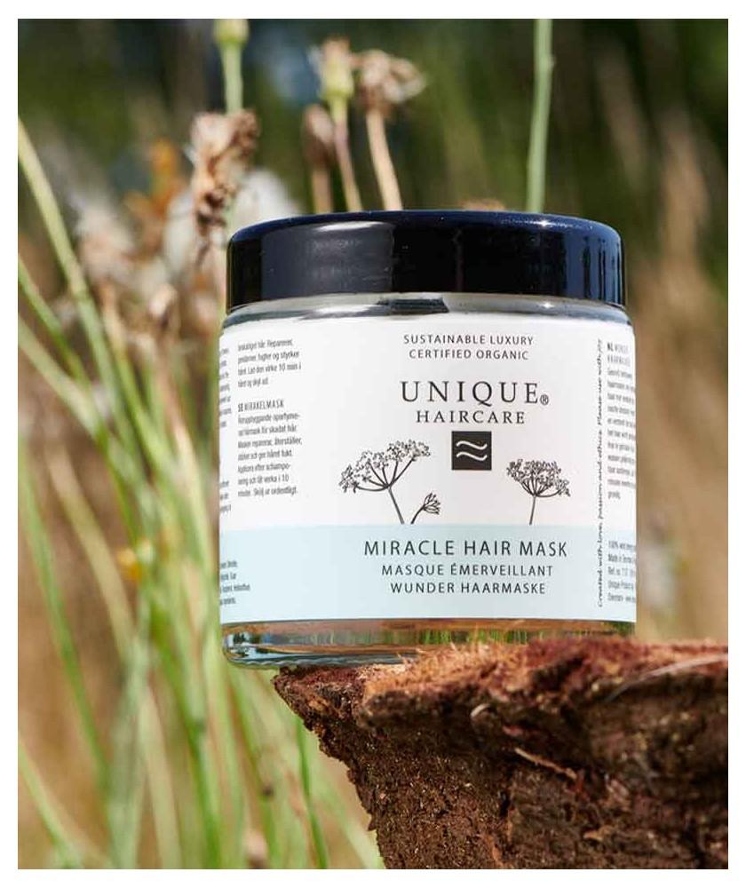 UNIQUE Haircare Masque Émerveillant Cheveux bio karité