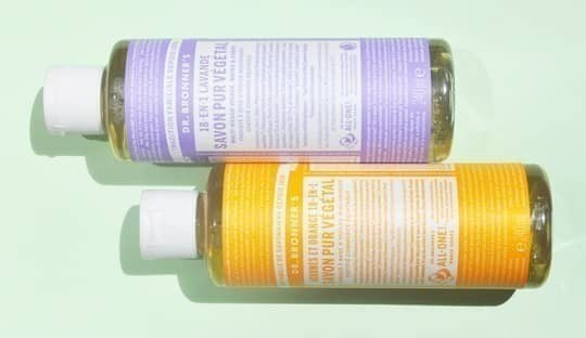 Dr. Bronner's natural soap organic cosmetics