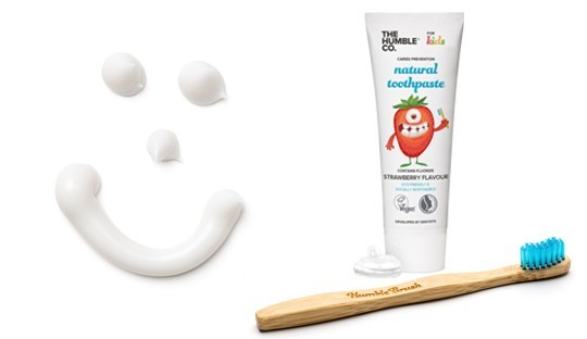 Natural Toothpaste Bamboo Toothbrush Kids