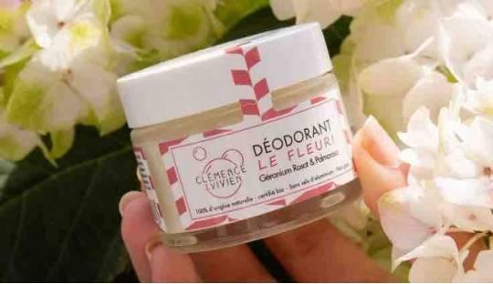 Natural déodorant, organic cosmetics