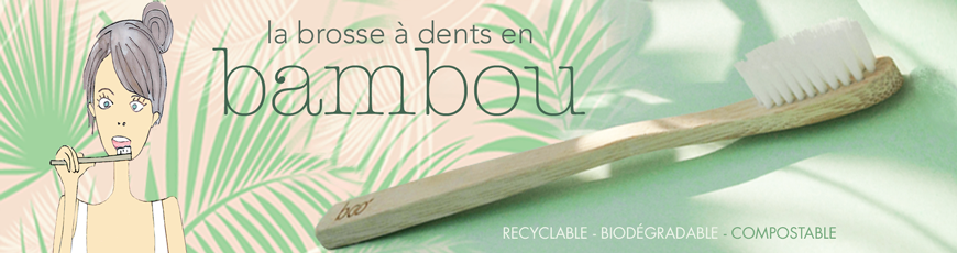 My BOO Company - la Brosse à Dents recyclable en Bambou biodégradable compostable vegan poils nylon sans BPA