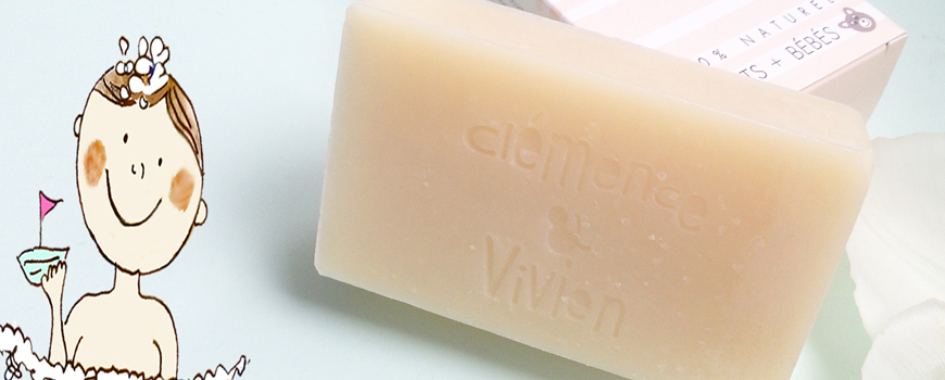 Clémence & Vivien organic moisturizing soap natural cosmetics baby beauty clean green vegan cruelty free