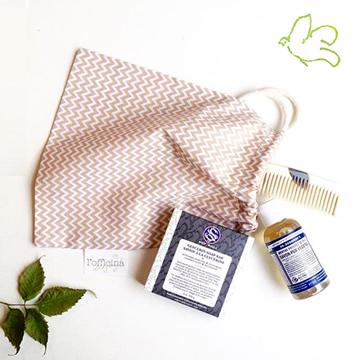 Soapwalla Dr. Bronner Abbeyhorn l'Officina gifts pouch cotton organic cosmetics natural beauty Lily Lolo L'Officina Paris