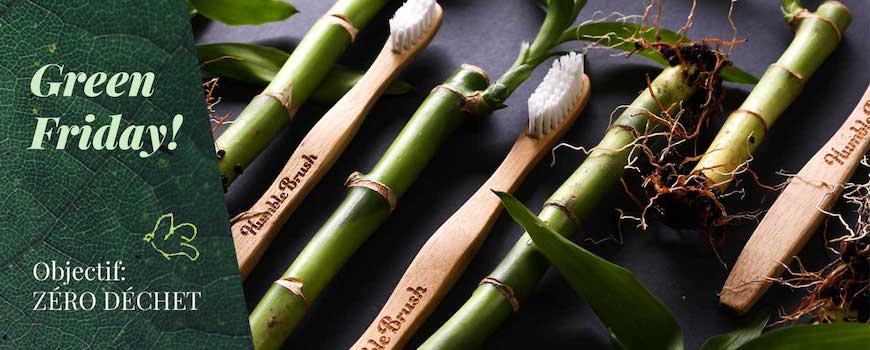 Humble Brush brosse à dents écologique en bambou cosmétiques bio naturels zero déchet vegan green