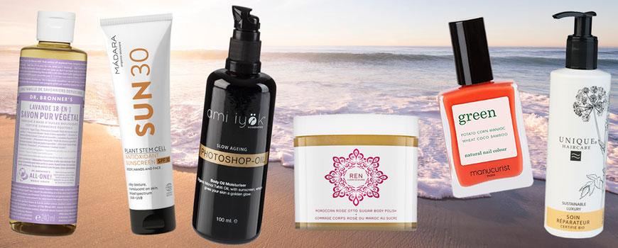 Dr. Bronner Savon liquide bio Madara solaire bio Ami Iyök Ren clean skincare Mancurist vernis Green Unique Haircare