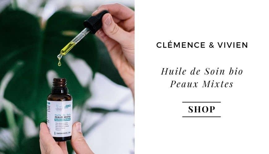 Clemence & Vivien Huile de Soin Visage bio Peaux Mixtes vegan e-shop l'Officina Paris