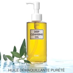 DHC Huile Démaquillante Pureté Deep Cleansing Oil cosmétique naturel plantes végétal bio beauté green teint peau sensible yeux pompe