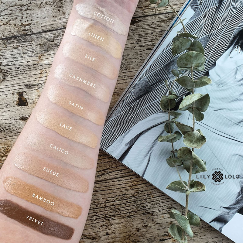 Lily Lolo Cream Foundation mineral cosmetics swatch shade