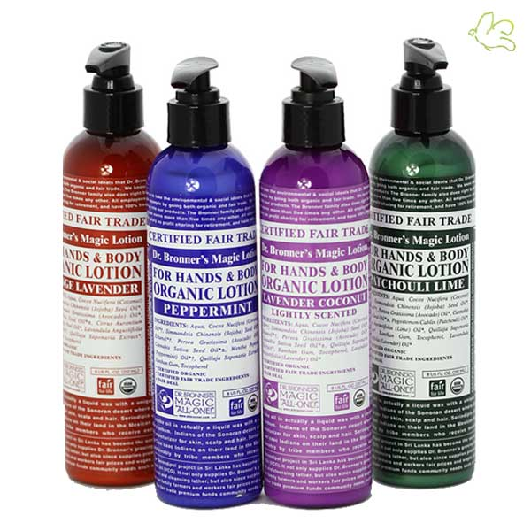Lotions hydratantes corps & mains Dr. Bronner