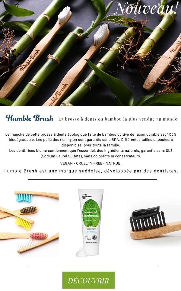 Humble Brush brosse à dents écologique en bambou Nouveau
