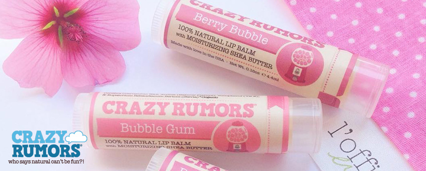Natural Lip balm organic Crazy Rumors vegan clean beauty green