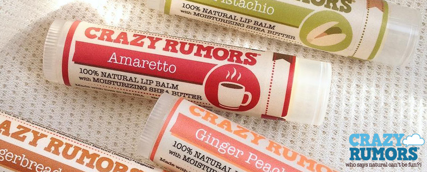 Crazy rumors natural lip balm Amaretto organic Lipbalm vegan
