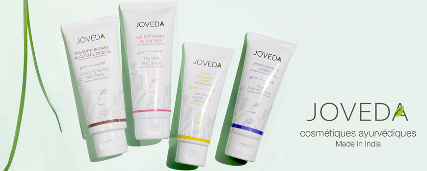 Joveda cosmétique naturelle ayurvédique Made in India