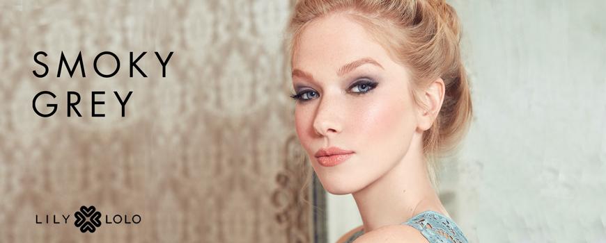 Look Smoky Grey maquillage minéral naturel Lily Lolo beauté teint yeux lèvres mascara fard paupières peau sensible acnéique green cosmétique