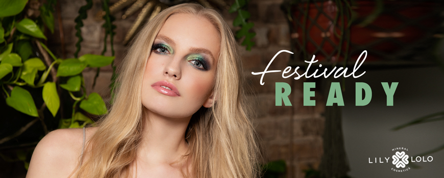 Lily Lolo Summer Look Festival Fun mineral cosmetics natural beauty green clean eyes lips cheeks