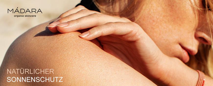 Madara cosmetics Natürlicher Sonnenschutz Naturkosmetik mineralisch zertifiziert Sonnencreme