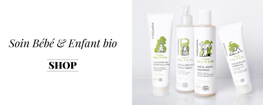 Madara Soin bébé bio naturel plantes cosmétique beauté green végétale Soin bébé enfant Visage corps cheveux bio naturel peau sensible plantes baltique Ecocert vegan