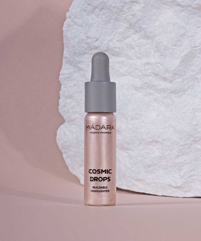Madara organic makeup Buildable Highlighter Naturkosmetik Cosmic Drops l'Officina Paris