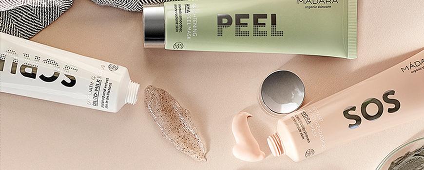Madara cosmétiques bio  Peeling Gommage Masque visage naturel végétal L'Officina beauté teint naturel