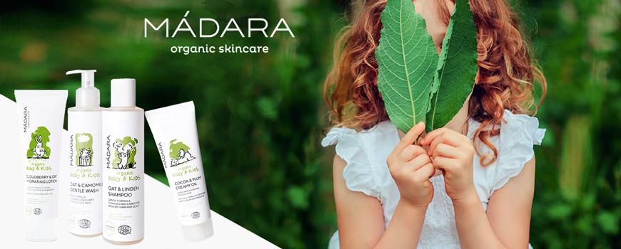 Madara cosmétique naturelle végétale et bio soin doux Bébé et Enfant, femme enceinte Ecocert peau sensible et fragile Baby & Kids