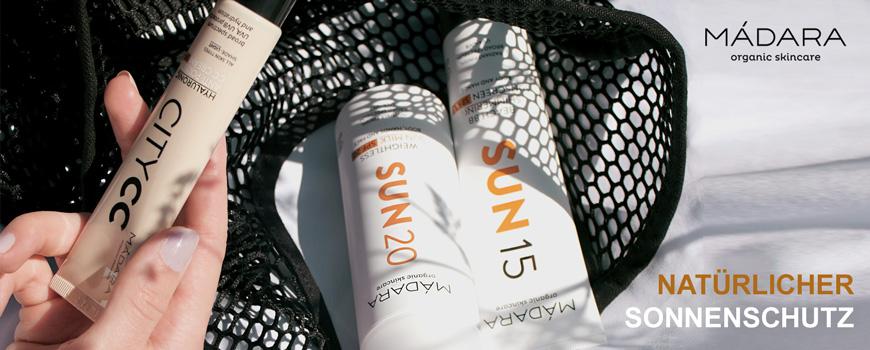 MADARA cosmetics Natürlicher Sonnenschutz zertifiziert Naturkosmetik