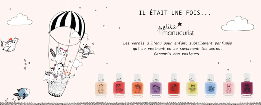 Petite Manucurist - kids safe nail polish water based non toxic Made in France