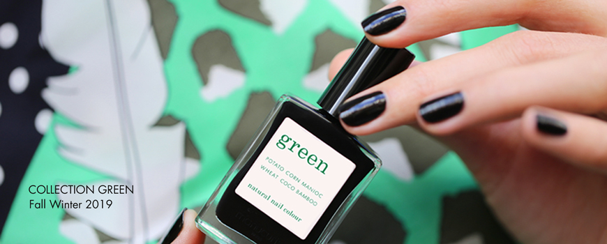 Manucurist Vernis Green Licorice noir naturel ongles France vegan cruelty free