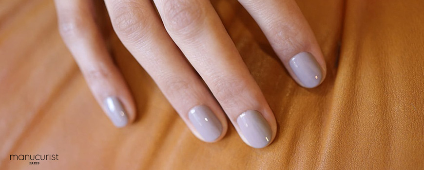 Manucurist Green Vernis Grey Agata automne gris vegan naturel made in France
