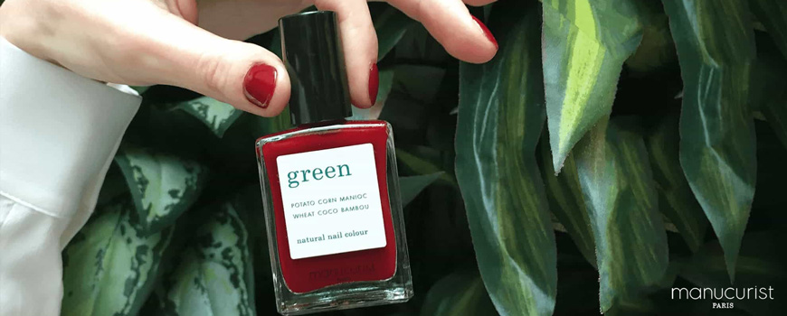 Manucurist Green Natural Nail Color Dark Pansy Polish vegan cruelty free organic non tosic natural beauty cosmetics vegan made in France
