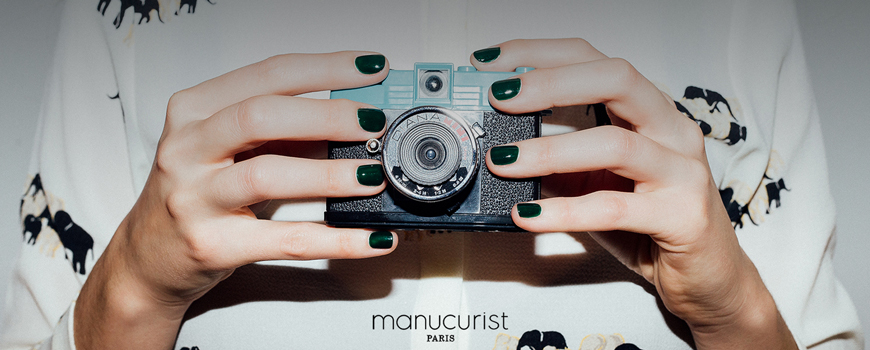 Manucurist Paris Green nail polish non toxic natural colors beauty