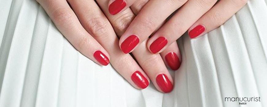 Manucurist Vernis Green Rouge Red Cherry vegan