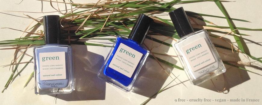 Vernis Green Manucurist ongles naturel bleu Lilas Ultramarine Snow cosmétique non-toxique vegan beauté maquillage