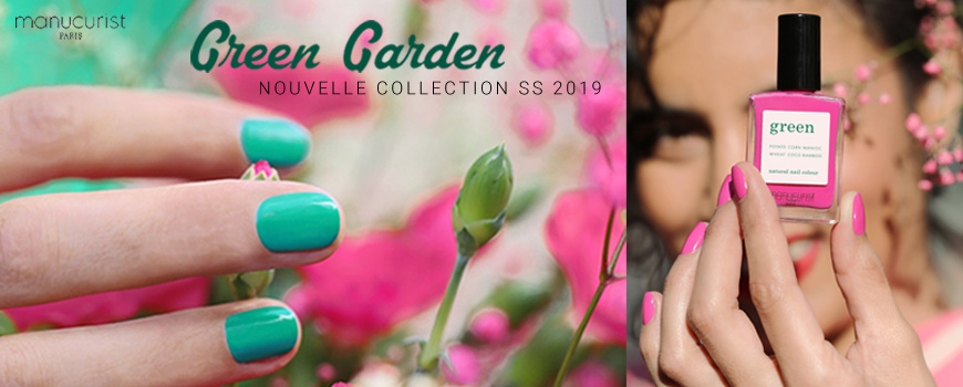 Manucurist Green Garden nail polish Spring Summer collection natural beauty vegan