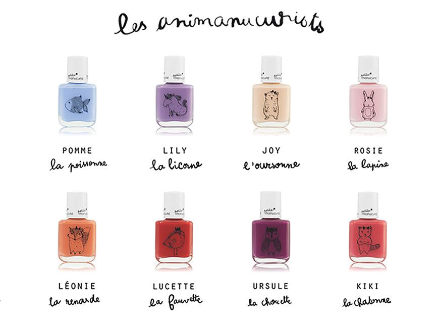 Petite Manucurist vernis naturel Enfant non toxique Paris made in France eau savon safe couleurs animaux beauté maquillage