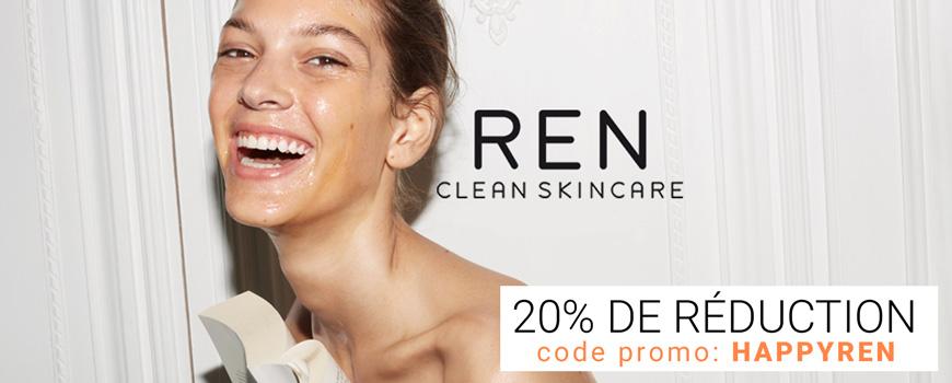 REN clean skincare cosmétique naturel peau sensible bio beauté teint visage végétal plantes soin hydrater nettoyer éclat