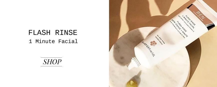 REN clean skincare Flash Rinse 1 Minute Facial REN clean skincare