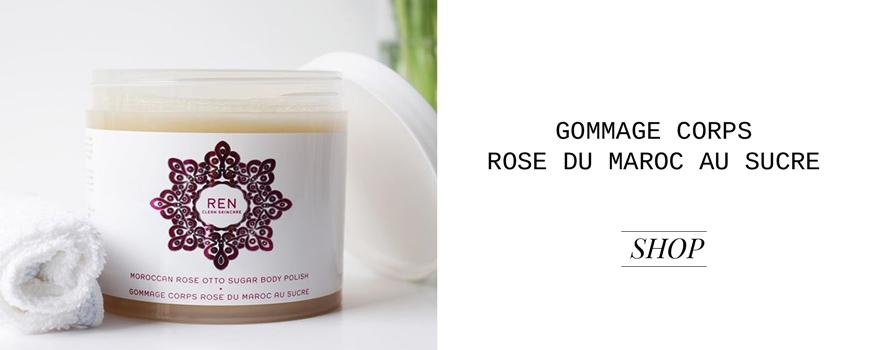REN clean skincare Gommage Corps Rose du Maroc au Sucre