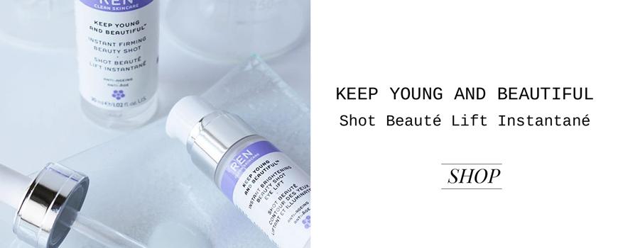 REN clean skincare Keep Young and Beautiful Shot Beauté Lift Instantané
