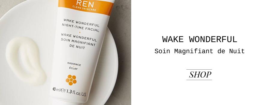 Ren clean Skincare Wake Wonderful soin visage de nuit