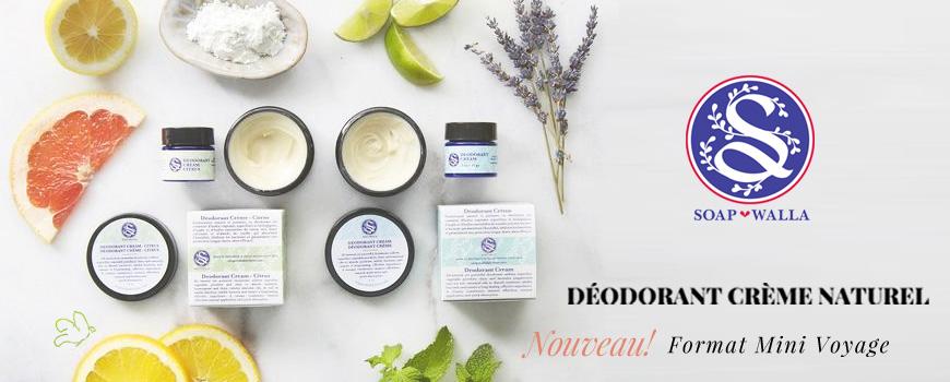 Soapwalla Déodorant crème naturel bio peau sensible vegan mini citrus végétal cruelty free