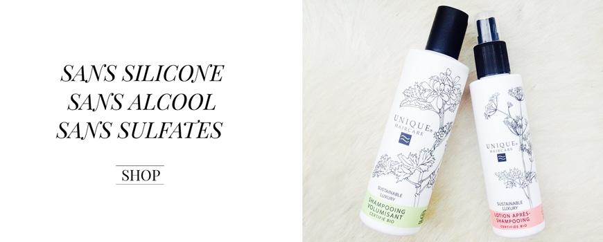 Unique Haircare Shampooing volumisant bio Soin Cheveux bio beauté shampooing volume cosmétique végétal plantes green Paris sans sulfate silicone parabenes