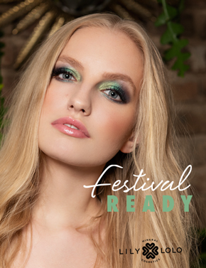 Lily Lolo Look Eté Festival Fun maquillage minéral yeux fard vert beauté green