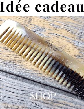 Peigne en corne Abbeyhorn naturel fait main Angleterre idée cadeau cheveux barbe homme femme Officina Paris
