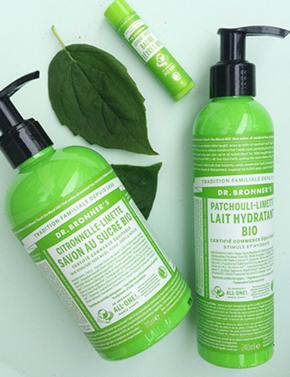 Dr Bronner Soin corps cosmétique bio naturel beauté promo offre green certifié Madara Soapwalla