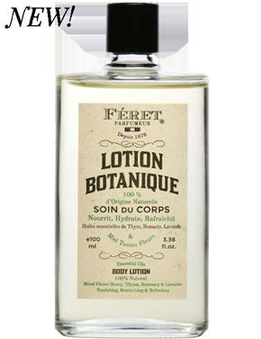 Féret Parfumeur - Lotion Botanique - soin pour le corps 100% naturel